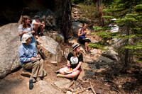 Lunch at the base of Sentinel Dome