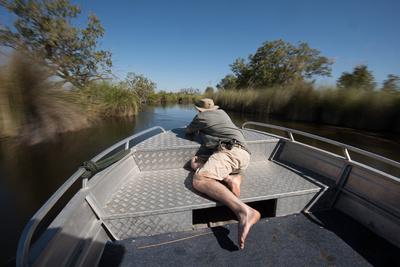 Filming the Ride up the Okavango