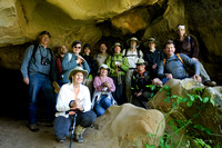 Group photo in a wind cave (tafoni)