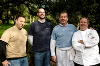 Joe, Rick, Lance, and Chef Peter Chastain from Prima Ristorante