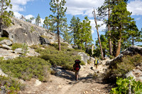 Hiking down into the Grand Canyon of the Tuolumne