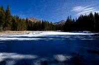 Frozen lake along Tioga Pass Road, Yosemite National Park