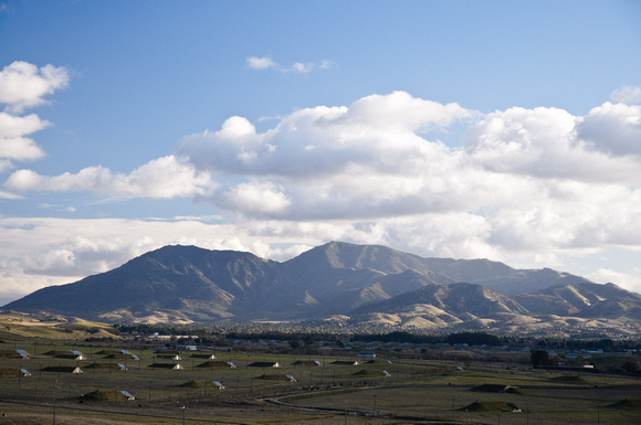 Mount Diablo viewed across the Concord Naval Weapons Station