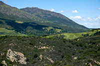 View of Mount Diablo's North Peak and Knobcone Point from Blackhawk Ridge