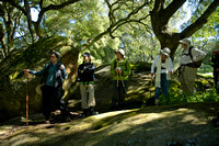 Learning about local native american history under the trees of Live Oak Campground